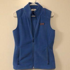 Vineyard Vines Light Blue Fleece Vest